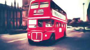 iconic routemaster painting 2016 by patrizia fazzari land