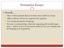 persuasive writing unit unit persuasive writing persuasive  3 persuasive essays overall