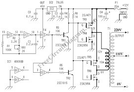convert ac to dc circuit diagram the wiring diagram circuits > dc ac inverter convert 12v dc voltage to 110 220v ac circuit diagram