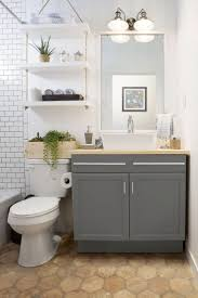Fabulous Small Bathroom Ideas Gray And White With Wall Shelf