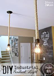 wire industrial cage pendant light shade diy industrial pendant light under bless