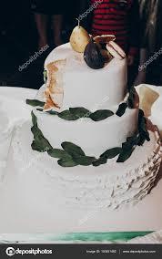 Wedding Cake With Greenery Pear Stock Photo Sonyachny 150451482