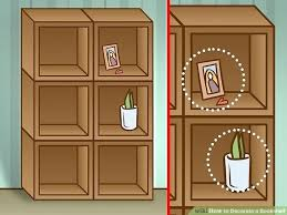 image titled decorate. Fine Titled How To Decorate A Bookcase Image Titled Bookshelf Step 1  Shelves To Image Titled Decorate O
