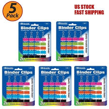 3 4 Inch Binders 5 Pack 3 4 Inch Clip Binder 19mm Metal Assorted Colored Small Binder