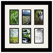 arttoframes collage photo frame with 6 3x5 openings