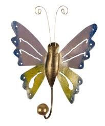 colorful coat hooks. Cunning Coat Hooks At Mudroom Space: Astonishing Decorative Hook Butterfly Shape Colorful Design