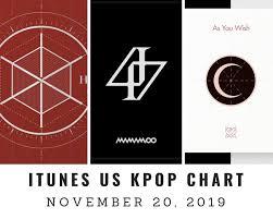 Itunes Us Itunes Kpop Chart November 20th 2019 2019 11 20