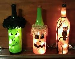 Ideas To Decorate Wine Bottles Decorated Wine Bottles With Lights Decorative Design 59