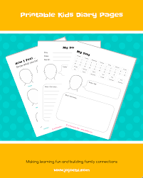 diary pages printable kids diary pages jojoebi