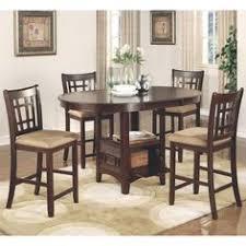 azalea warm brown counter height dining set 1 table 6 stools beige