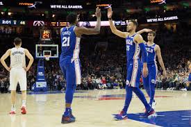 Jun 11, 2021 · the second round of the nba playoffs continues friday night with two games and yahoo sports' jared quay has the picks you need for all of the action. Nba Scores 2018 Ben Simmons And Joel Embiid 2020 And 7 Other Things From Thursday Night Sbnation Com