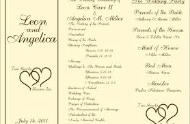 Microsoft Wedding Program Templates Wedding Program Template All About Wedding Design