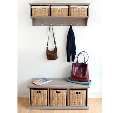 Coat Rack Uk Enchanting TETBURY Hallway Shelf With Coat Rack And Wicker Baskets Bench