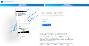 Monthly Paycheck Calculator Salary Calculator Uk 2019