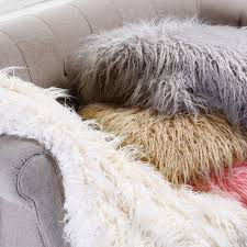 pink mongolian lamb faux fur throw blanket 58 x 60