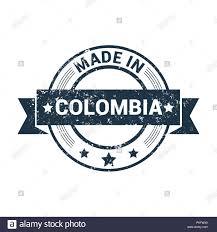 Stamp Design Colombia Stamp Design Vector Stock Vector Art Illustration