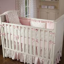 bedroom pink and taupe damask crib bedding girl