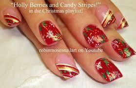 Easy Xmas Nail Art! Fun HoLiDaY Tutorial | DIY Christmas Nails ...