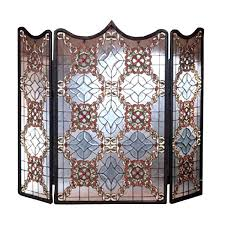 glass fireplace screen. Victorian Fireplace Screen Beautiful Decoration Stained Glass Screens Beveled .