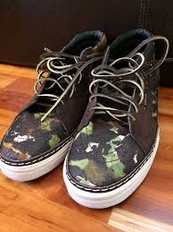 details about vans horween brushed camo sk8 mid hw lx updated listing