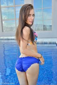 Skinny nympho Anyah fingering asshole in her bikini at PinkWorld Blog