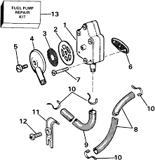 44942 johnson fuel pump and filter parts for 1985 60hp j60elcod outboard on johnson fuel filter