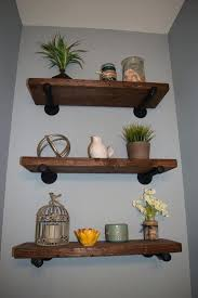 Rustic Floating Shelves Large Wood