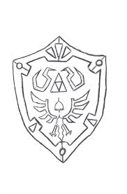 Zelda Shield Coloring Page Coloring Pages