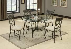 sheridan grey metal and glass dining table