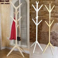 Wooden Coat Rack Stand NEW European style coatrack 100% wooden tree fork coat racks stand 76