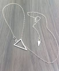 lt01 silver triangle necklace 7