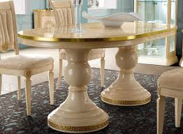 Aida Dining Table Ivory And Gold By Esf Furniture Furniturepick