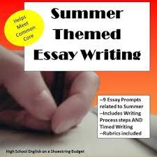 summer themed essay writing w rubrics printables by msdickson summer themed essay writing w rubrics printables