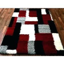 black and gray area rugs white grey modern blocks gy design rug amazing mode