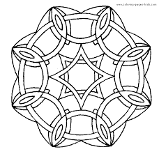 Mandala Color Page Coloring Pages For Kids Miscellaneous