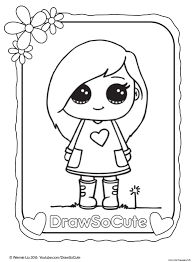 Cute Coloring Pages For Girls Moongateme
