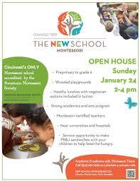 Open House Jan 24 2 4 The New School Montessori
