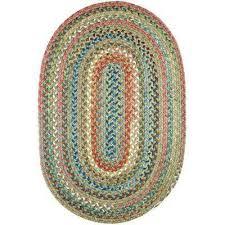 oval indoor outdoor braided area rug