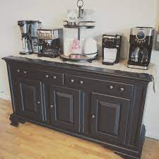 It's a little smaller than the other hutches i've transformed, but i knew it would make the perfect coffee bar! Farmhouse Hutch And Coffee Bar Diy Makeover Bloggy Moms
