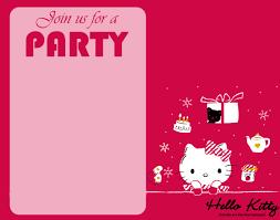 invitation card hello kitty invitation cards for kitty party inspirationa free hello kitty