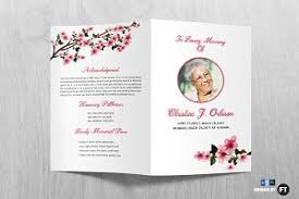funeral pamphlet funeral program template brochure templates creative market