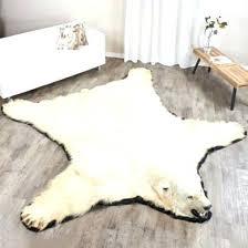 faux bear skin rug with head foot polar fur kids furniture surplus barrie black bearskin plu