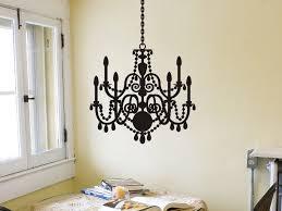 fancy crystal chandelier marvelous chandelier wall decal