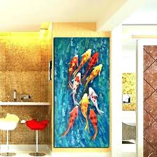 chinese wall art painting decor beautiful picture print abstract nine fish landscape stickers abst chinese wall art