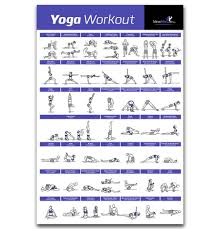 Yoga Pose Chart Poster Fx502 Hot Yoga Workout Home Exercise Pose Training Chart