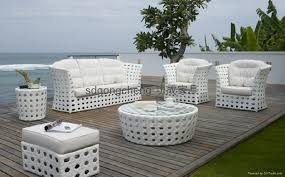 outdoor white wicker furniture nice. 2013 Aluminum White PE Rattan Sofa Set 1 Outdoor Wicker Furniture Nice E