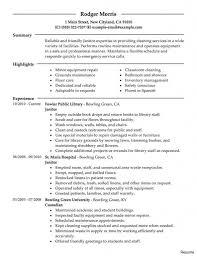 Resume For Janitor Surprising Janitor Resume Sample Cv Cover Letter