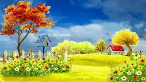 Beautiful 3d Animation With Nature Autumn Village 3d