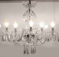 5 arm chandelier in comeragh cut by waterford
