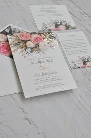 Ethereal Garden Foil Invitation Rose Gold Foil Garden